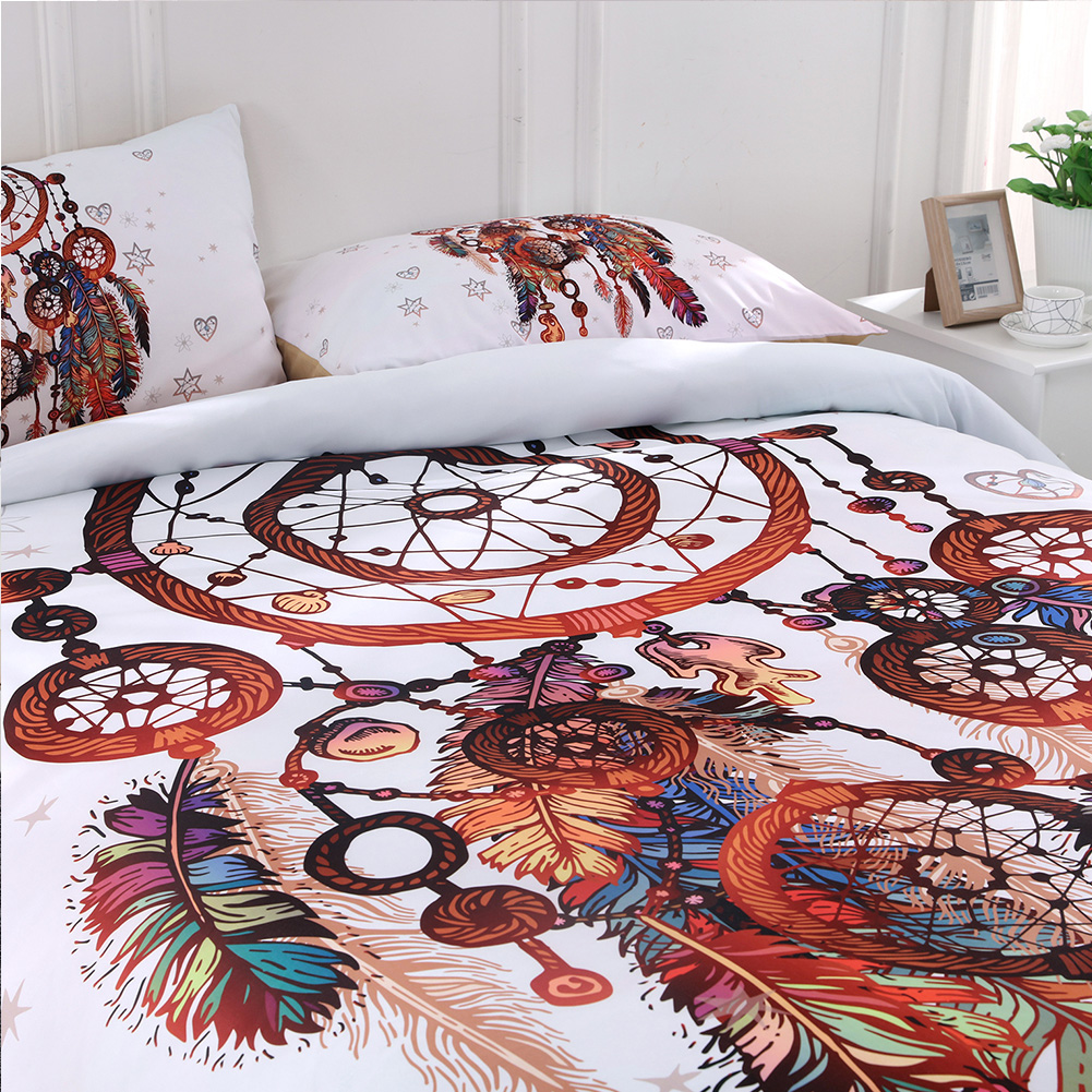 quilt cover bedding set bohemian boho duvet cover pillowcase double queen king ebay. Black Bedroom Furniture Sets. Home Design Ideas