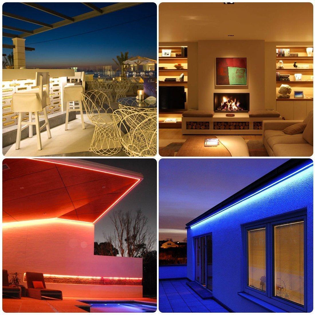 Detalles de 19v 19m 19m LED RGB Stripe luz rayas barra de luz cadena de luz  control remoto set- ver título original