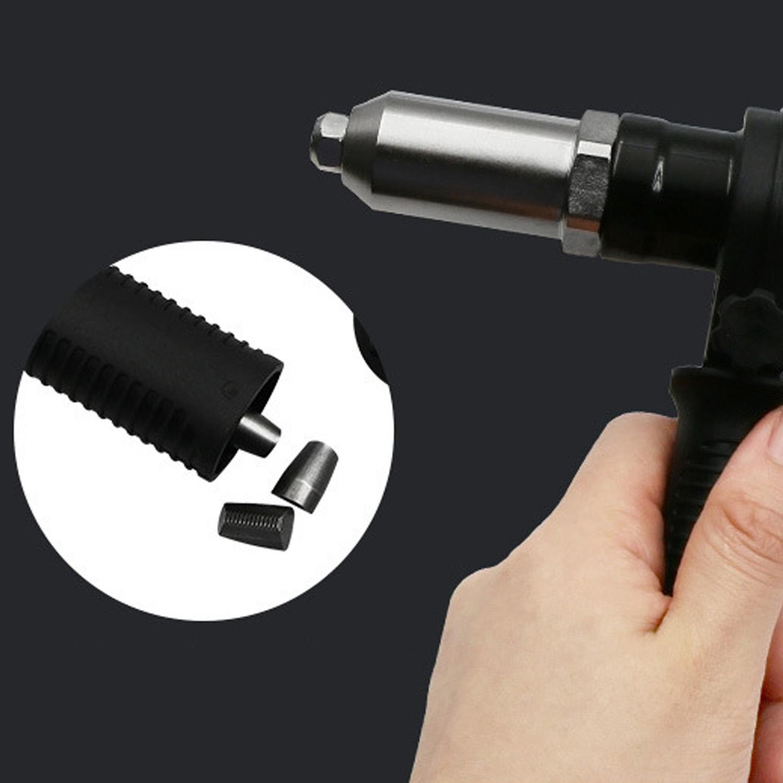 Blindniet-Adapter-Kit f/ür Akku-Bohrer Nietkopf und Griffschl/üssel mit 2,4//3,2//4,0//4,8 mm Durchmesser Elektro-Nietpistolen-Kit