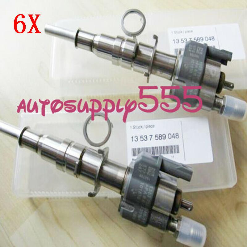 6/pcs Fuel Injector 13537585261/13537589048