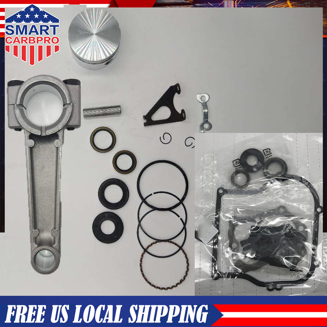 New Engine Rebuild Kit For Briggs and Stratton 5HP Engines Piston Standard