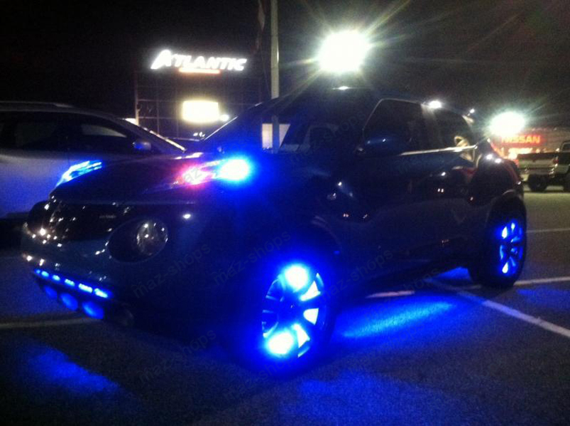 4pcs Blue Led Strip Under Car Tube Underglow Underbody