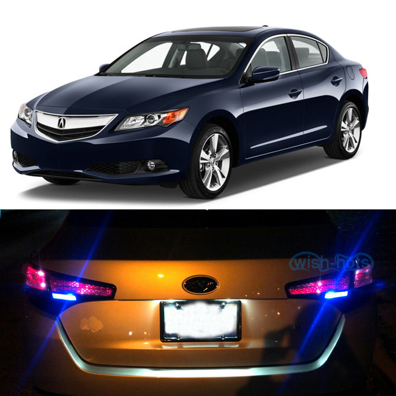 Pair Blue LED Reverse / Back Up Lights Bulbs For Acura ILX