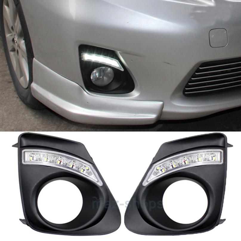 For Toyota Corolla 2011-2013 White LED Daytime Running Fog Light DRL lamp 2Pcs