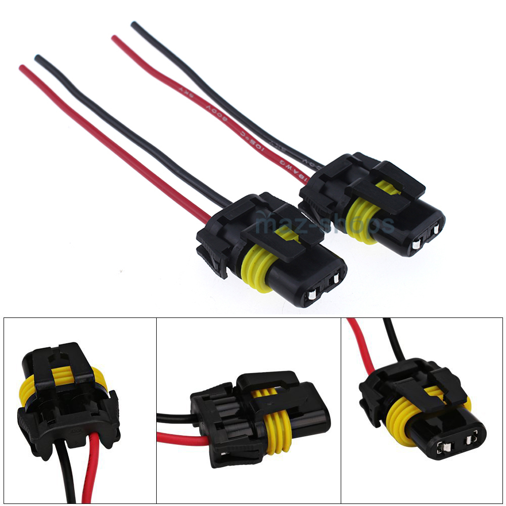 Wire Pigtail Female 9006 Hb4 Two Harness Wiring Adapter