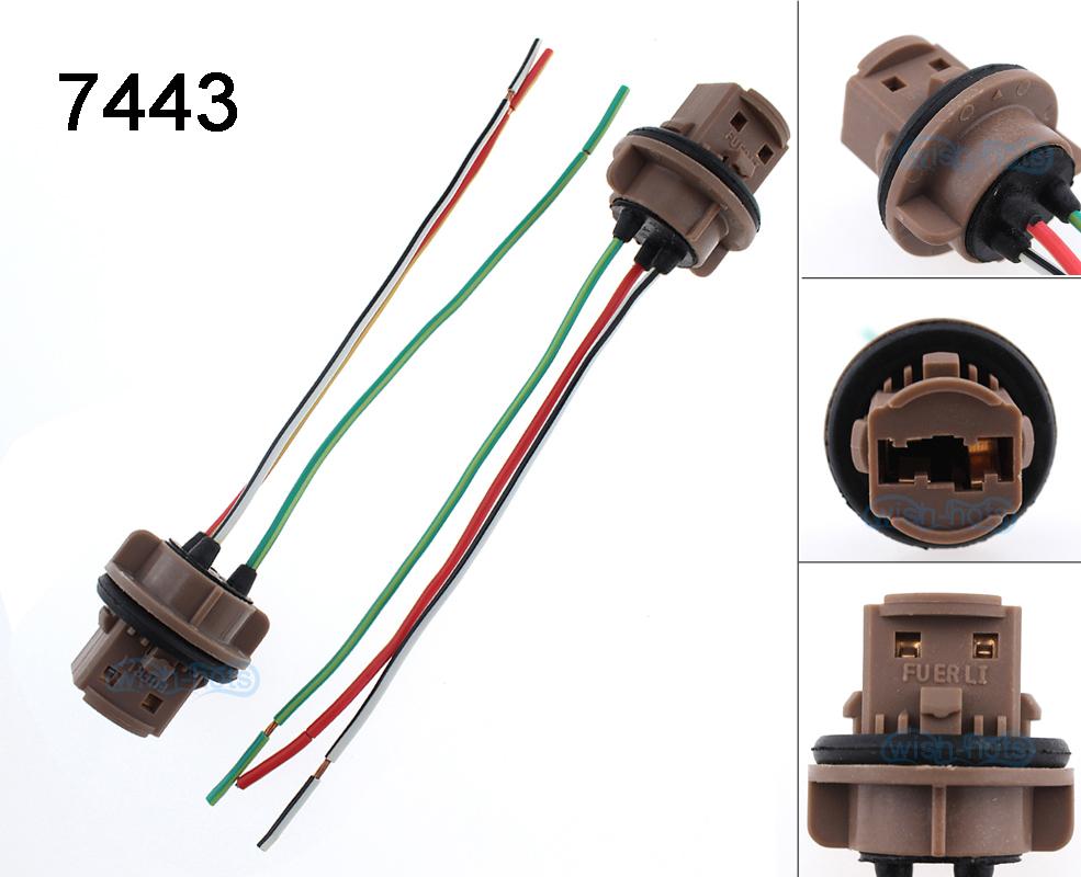 2pcs 7443 7440 992a 7443r T20 Led Bulb Brake Signal Light Sockets Wiring A Socket Harness Wire