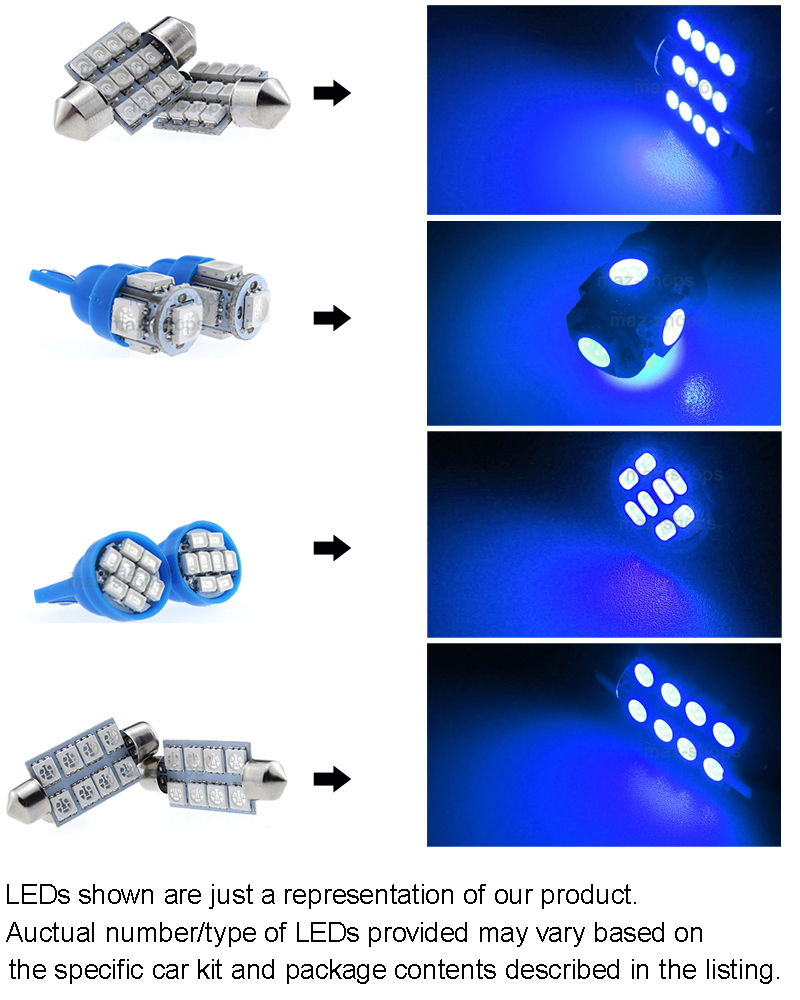 6x blue interior led lights package kit for 2007 2017 jeep - 2016 jeep compass interior lights ...