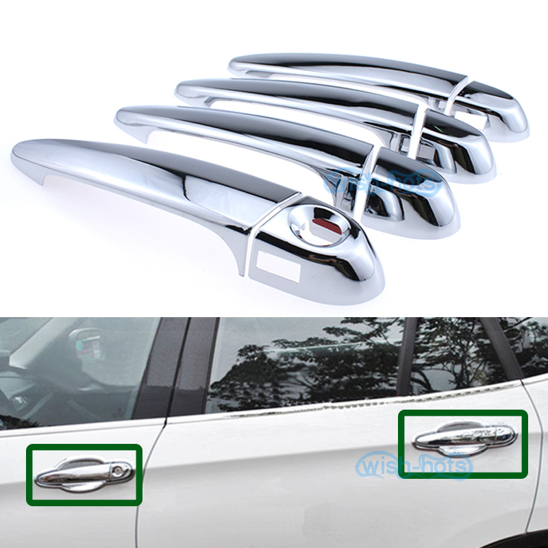 4pcs ABS Chrome Door Handle Cover Trim Fit BMW X3 F25 2011 2012 2013 2014 2015