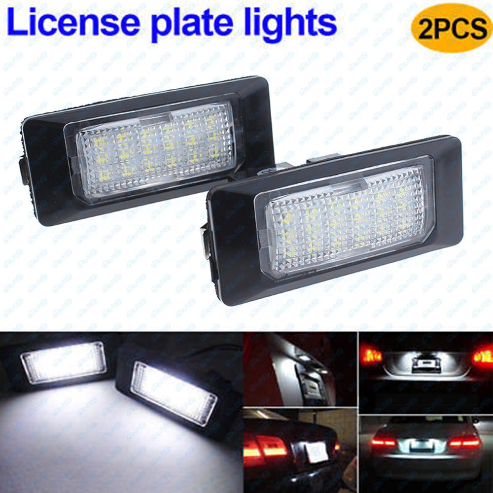 2Pcs LED License Plate Lights For Volkswagen VW Golf4 MK4 Variant Bora Jetta