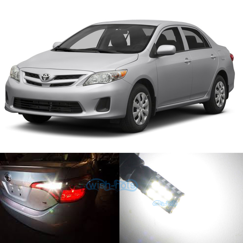 White Toyota Corolla >> Details About White Led Reverse Back Up Lights For Toyota Corolla 98 2015 2010 2011 2012
