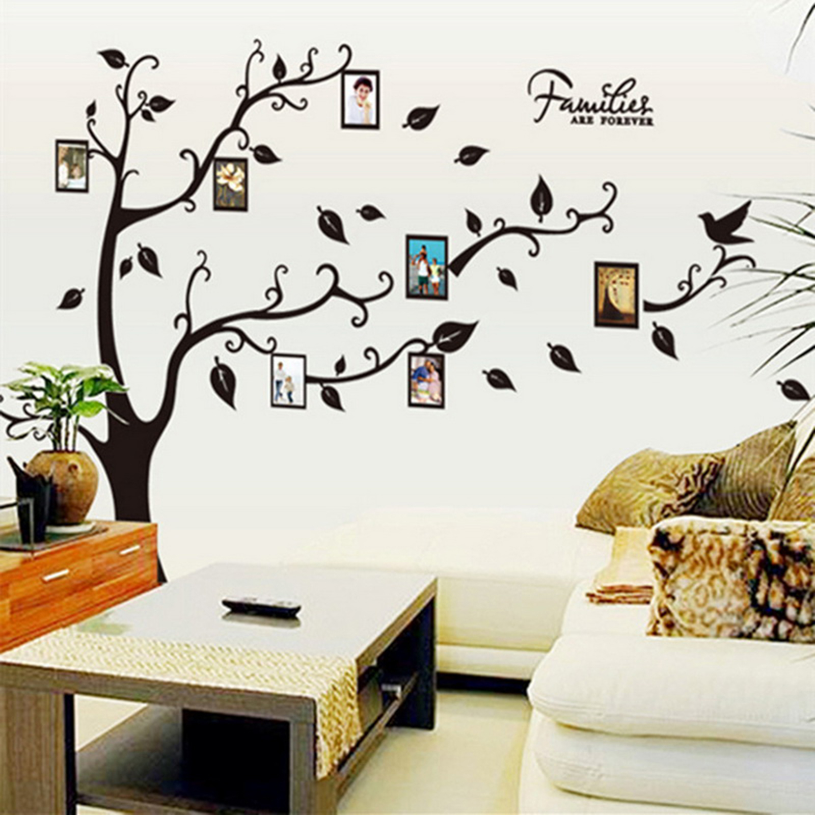 Modern Mirror Style Removable Decal Art Mural Wall Sticker Home Room ...