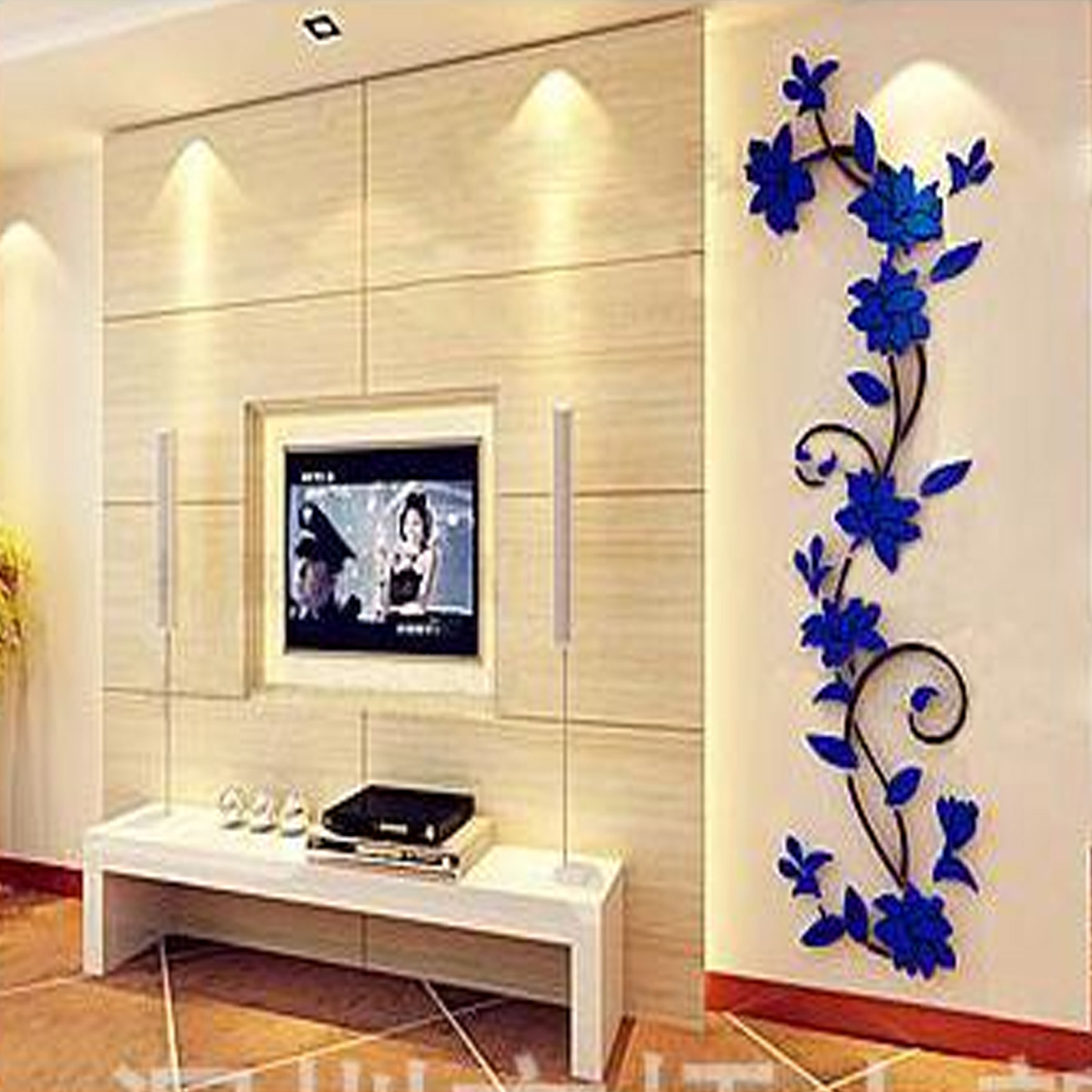 Flower Removable Vinyl Wall Sticker Diy Acrylic Decal Mural Home