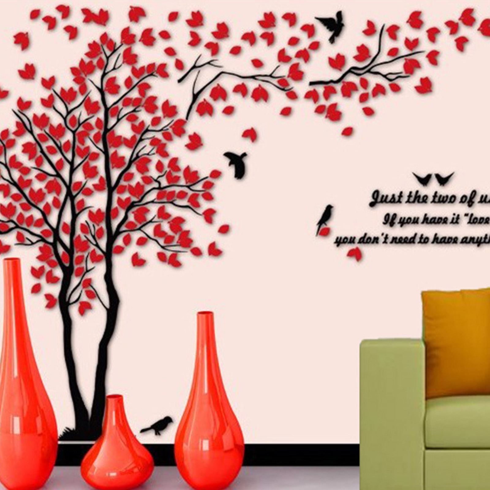 3D DIY Creative Couple Tree Decal Wall Sticker Removable Art Mural Room Décor 116