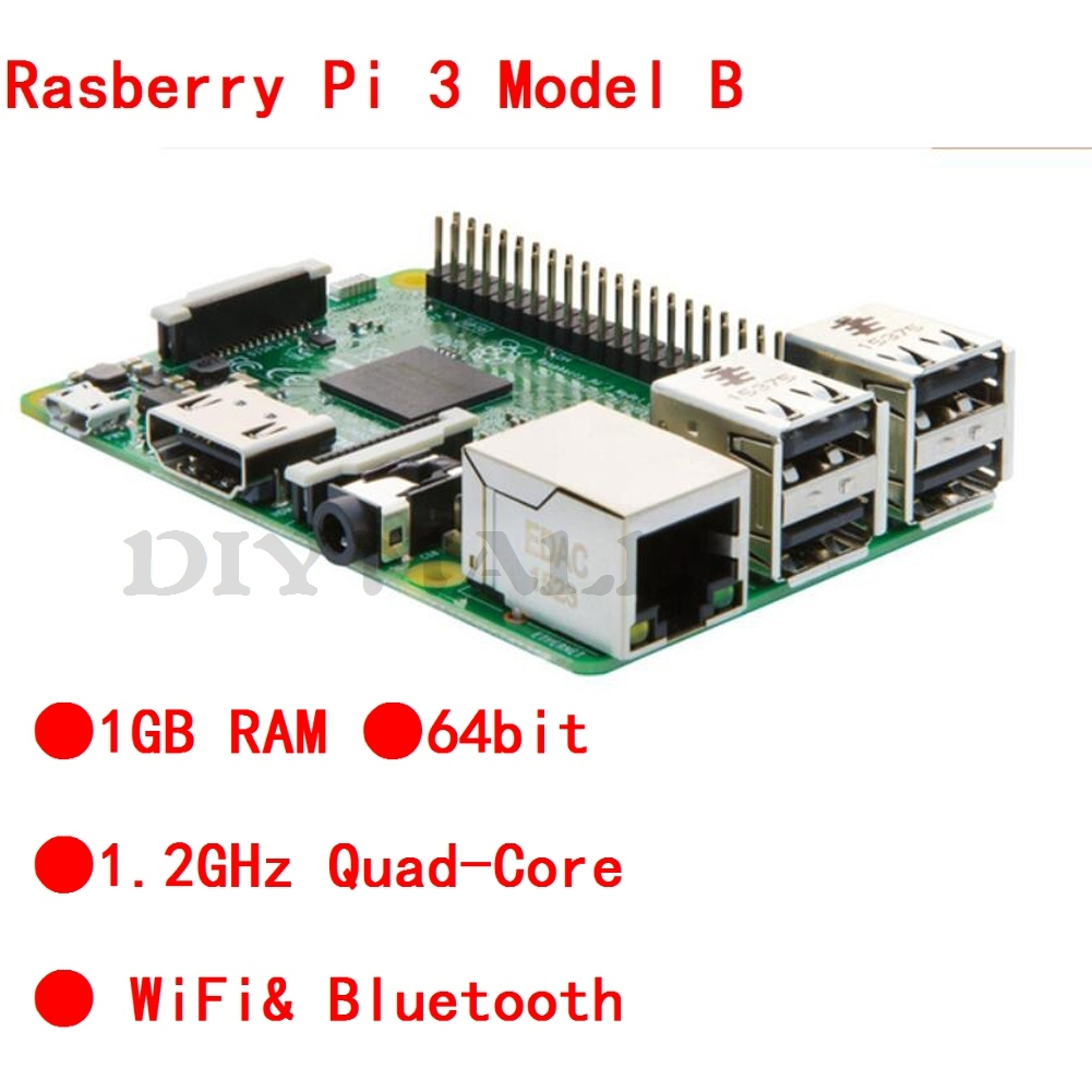 16 Raspberry Pi 3 Model B Quad Core 1.2GHz 64bit CPU 1GB RAM WiFi Bluetooth