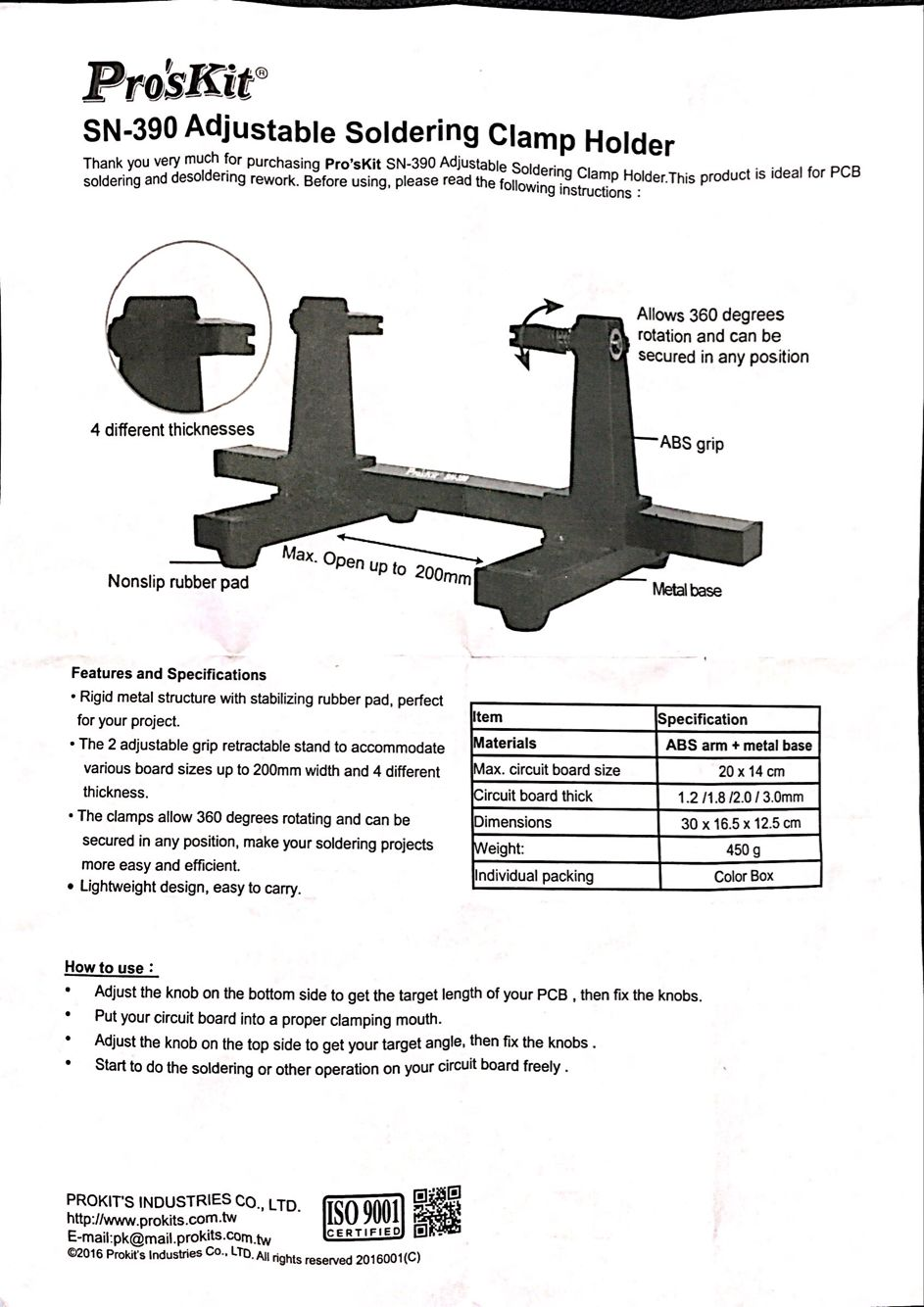 Proskit Adjustable Pcb Holder Printe End 9 13 2019 215 Pm Details About Metal Circuit Board Repairing Repair Tool For Maximum Clamping Size 20 X 14cm 787 551inchlw Thickness 12mm 005 18mm 007 20mm 008 3mm 012 30 165