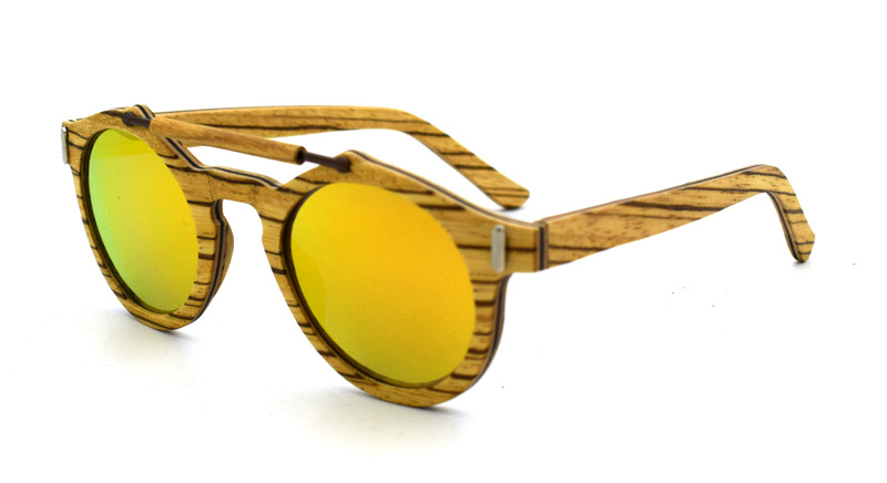 8359125bb2a Vintage Wood Metal Frame Wooden Sunglasses New Polarized Glasses  Gold Green Blue