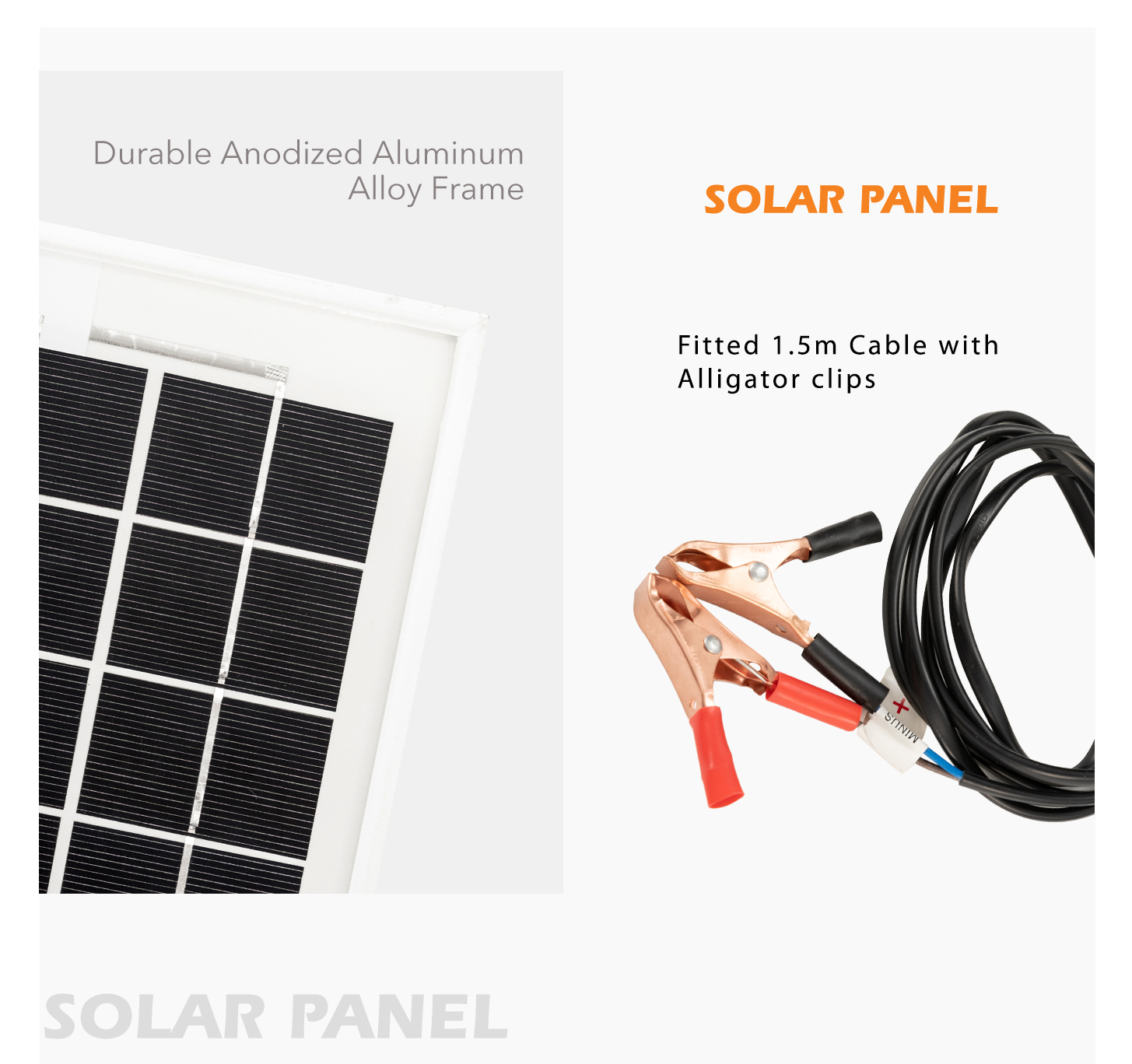 2x 12v 10w Solar Panel Kit Megavolt Caravan Camping Power Mono Wiring Diagram Item Description Absorbs Maximum Sunlight With Latest Cell Technology