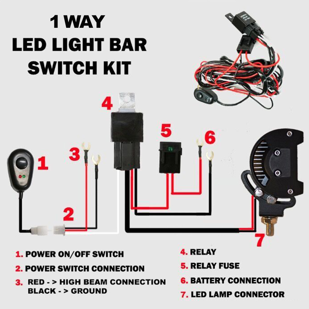 Led Hid Wiring Loom Harness Spot Work Driving Light Bar 12v 40a A Relay For Deutsch
