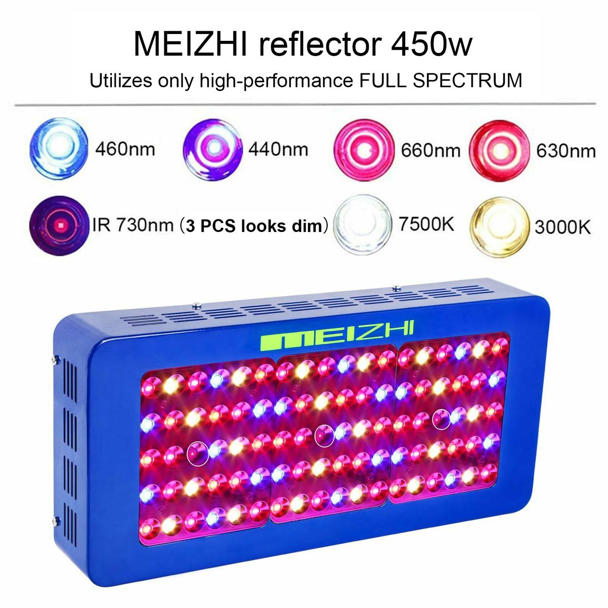 Meizhi 300w 450w 600w 900w 1000w 1200w Led Grow Light Full