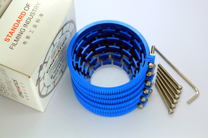Cinematics Dslr Lens Gear Ring for Follow Focus Belt 90-99mm for Dslr Pro Mod 0.8 Blue