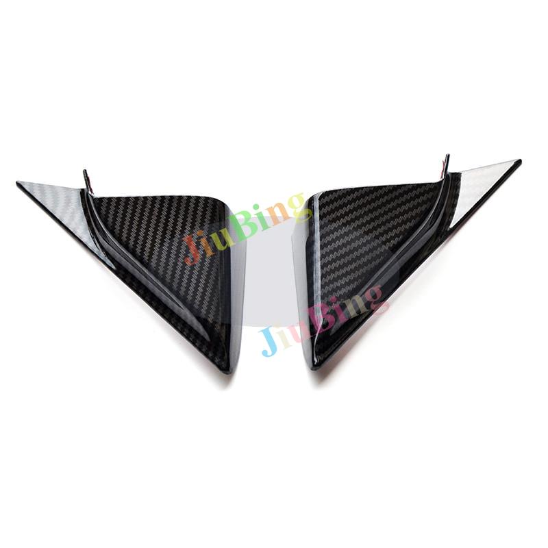 2Pcs For MAZDA 3 Axela 2017-18 Carbon Fiber Front Door Stereo Speaker Cover Trim