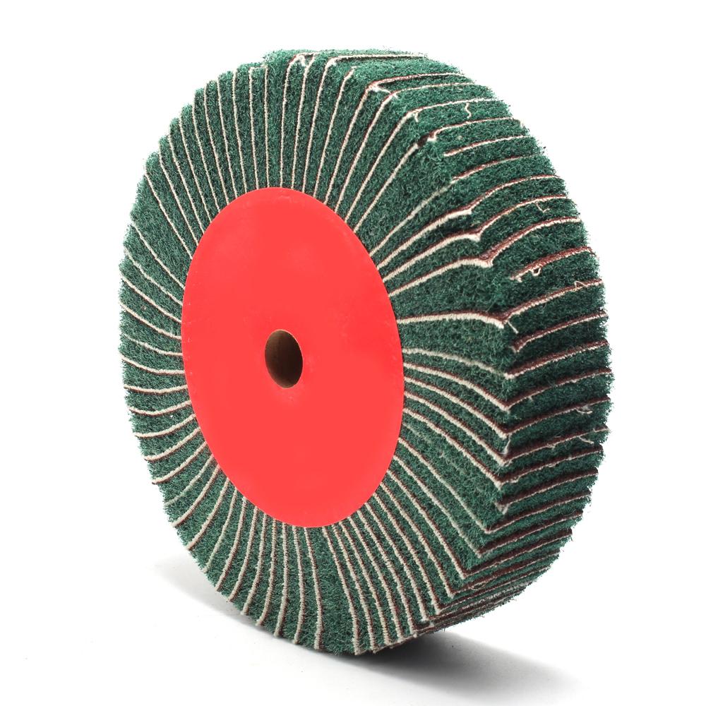 Non-woven Flap Polish Wheel Abrasive Grinding Wheel 4-12/'/' Interleaf Combi Wheel