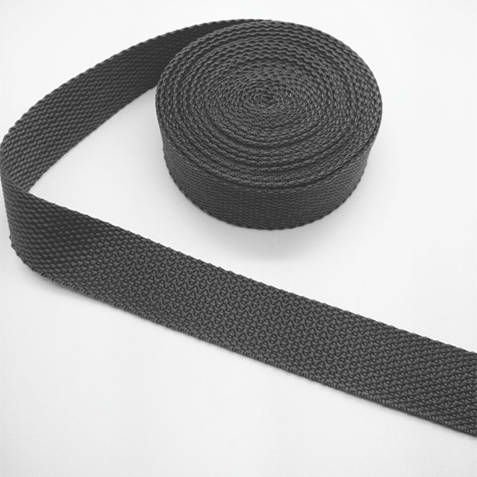 New Hot 5Yards 1Inch 25mm Width Length Strap Nylon Webbing Strapping  gray