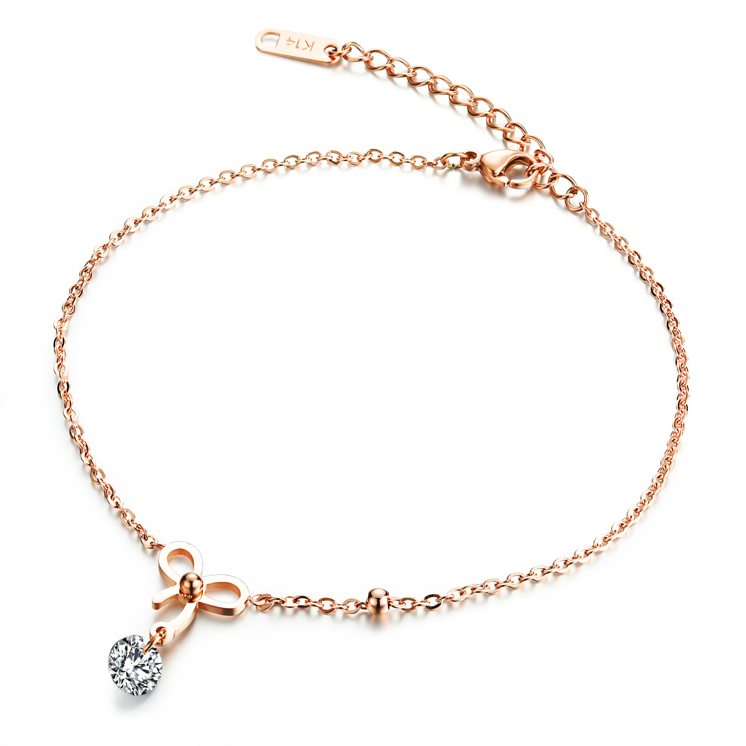 rose gold shop heart ss shuziusa anklet anklets