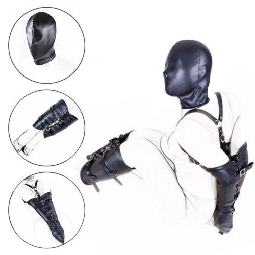 3pcs Arm Binder Body Harness Sleeve Restraint Leather