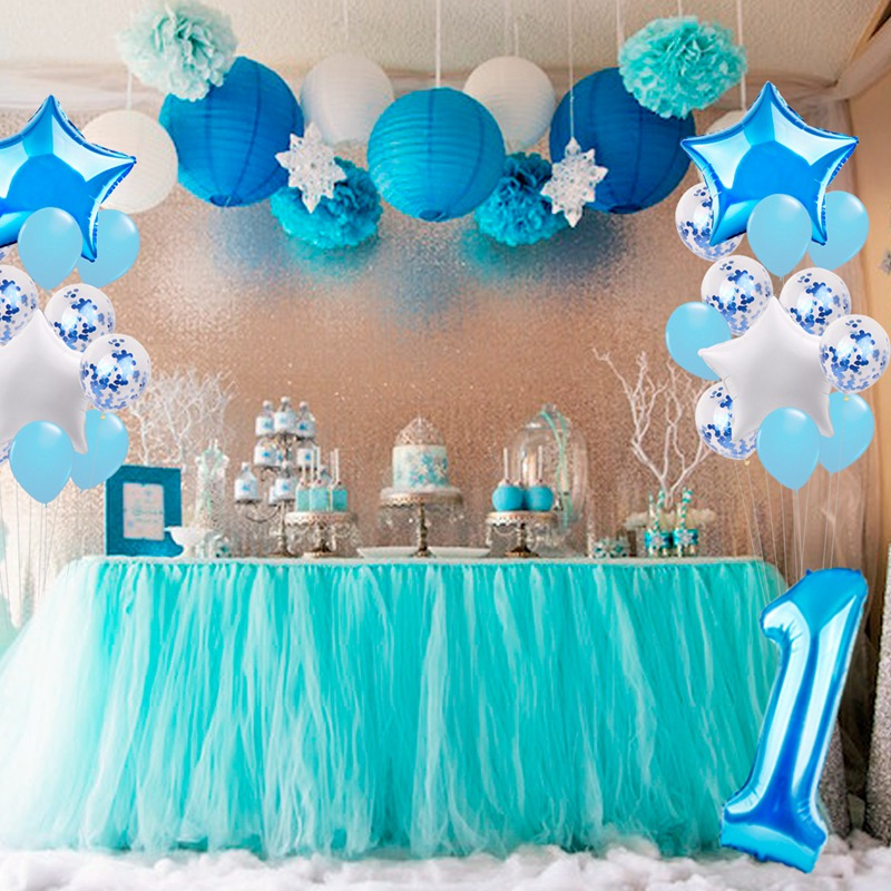 Details About 25pcs Happy First Birthday Balloons Set 1 Year Old Baby Boy Girl Party Decor
