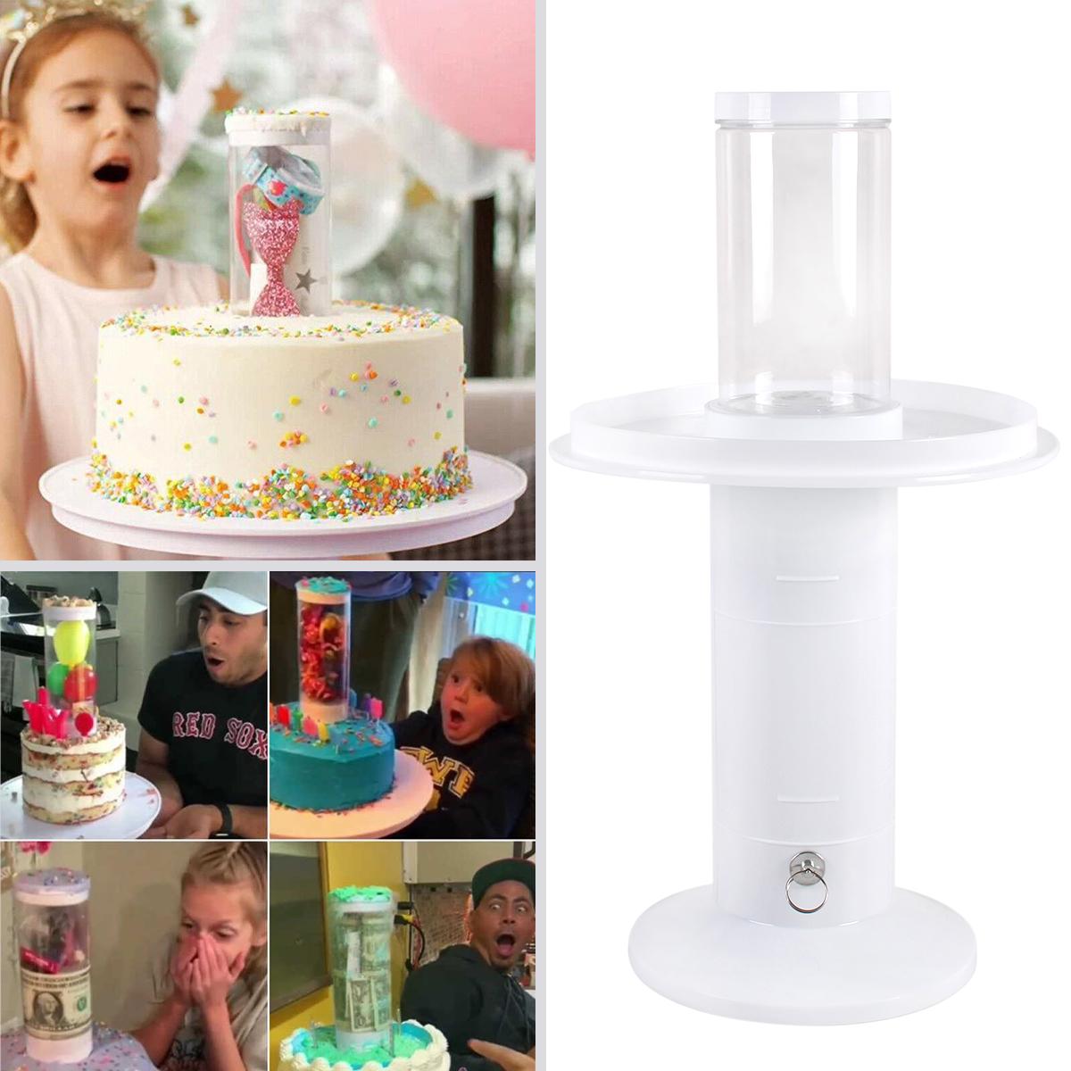 Outstanding 2In1 Surprise Popping Cake Stand Kids Birthday Cake Holder Wedding Funny Birthday Cards Online Amentibdeldamsfinfo