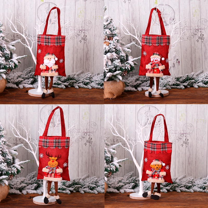 Christmas Gift Bags For Kids.Details About 1pcs Santa Claus Gift Bags Kids Candy Bag Merry Christmas Party Decor Supplies