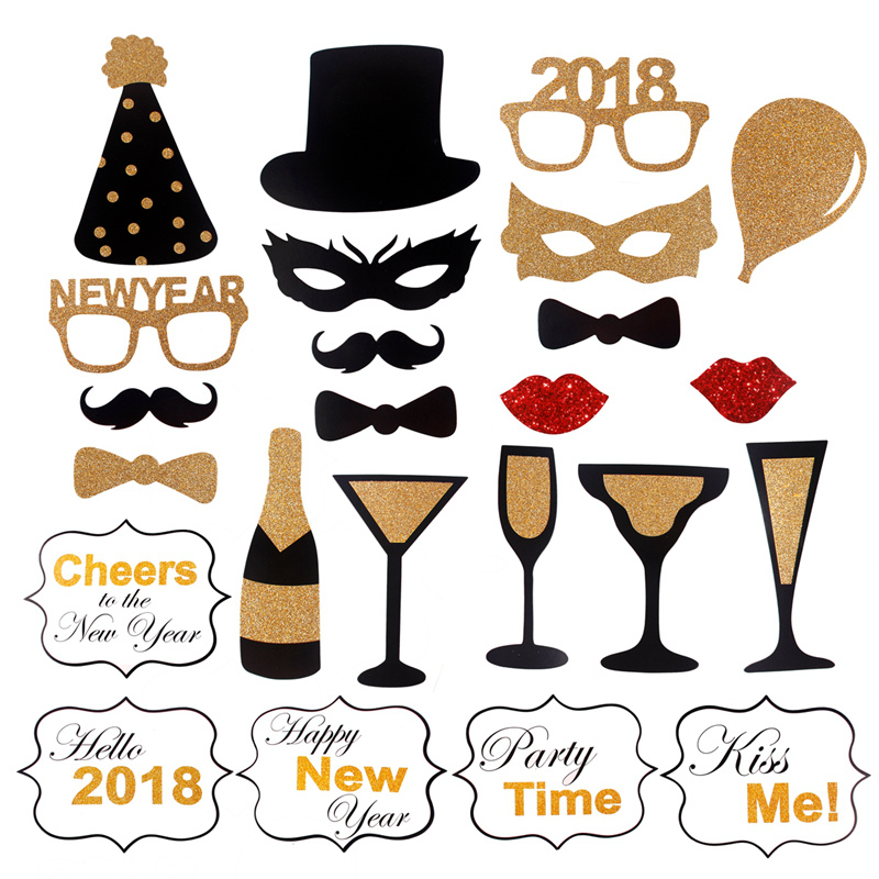 2018 new years eve party christmas photo booth props mustache stick 2018 new years eve party christmas photo booth solutioingenieria Images