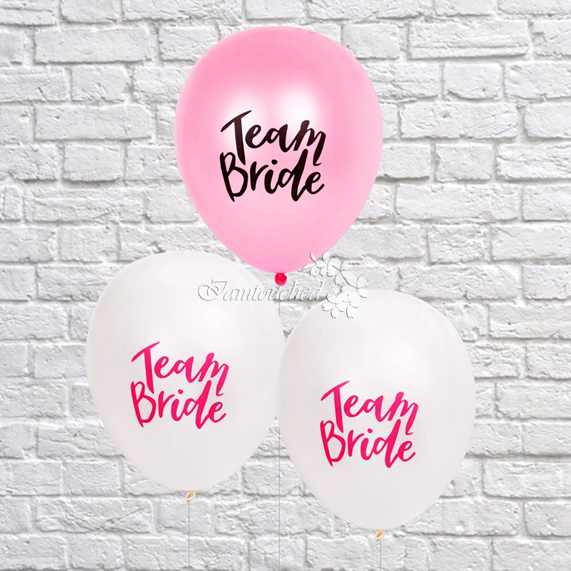 10pcs Team Bride Ballons For Hen Night Do Party Wedding Latex Printed Balloons