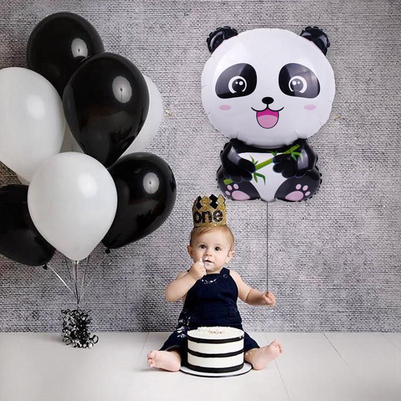 Cute Panda Balloon Foil Ballon Happy Birthday Party Decor Kids Inflatable Toy