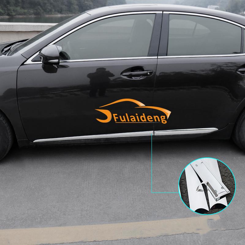 ABS Chrome Side Door Body Molding Cover Trims for Lexus ES250 ES300 350 4PCS