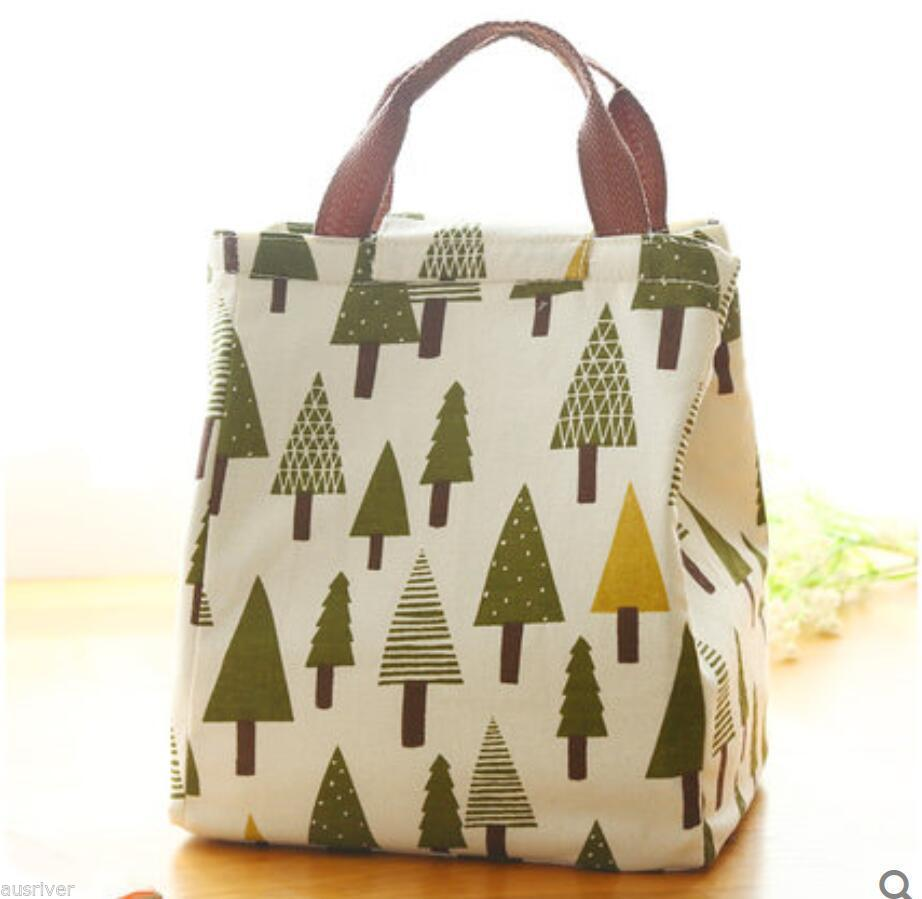 New Thermal Waterproof Portable Carrier Picnic School Aluminum Canvas Lunch Bag