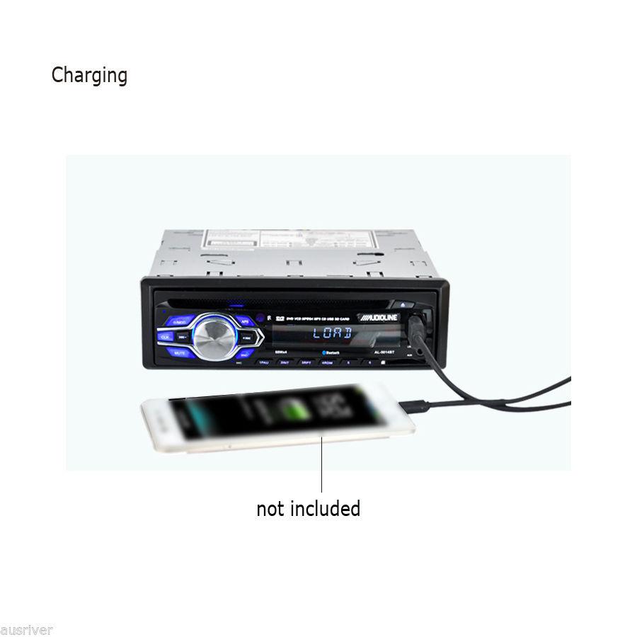 universal 12v single din in dash car dvd player stereo. Black Bedroom Furniture Sets. Home Design Ideas