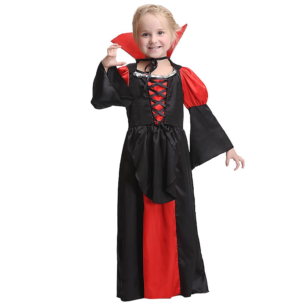 Halloween Vampire Costume Kids.Girls Vampire Costume Kids Halloween Dracula Fancy Dress Childrens