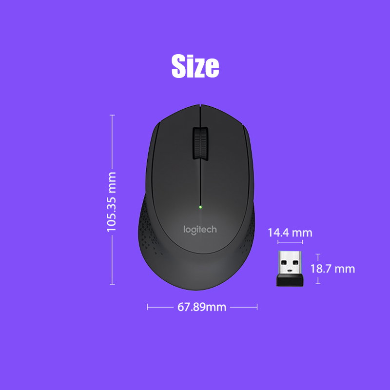 Logitech M280 Wireless Mouse 2 4G 10m Comfy Right-handed For PC