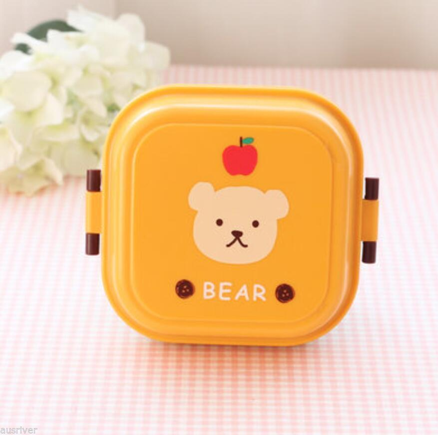 Cartoon Kids Portable Plastic Frozen Lunch Box Snack Fruit