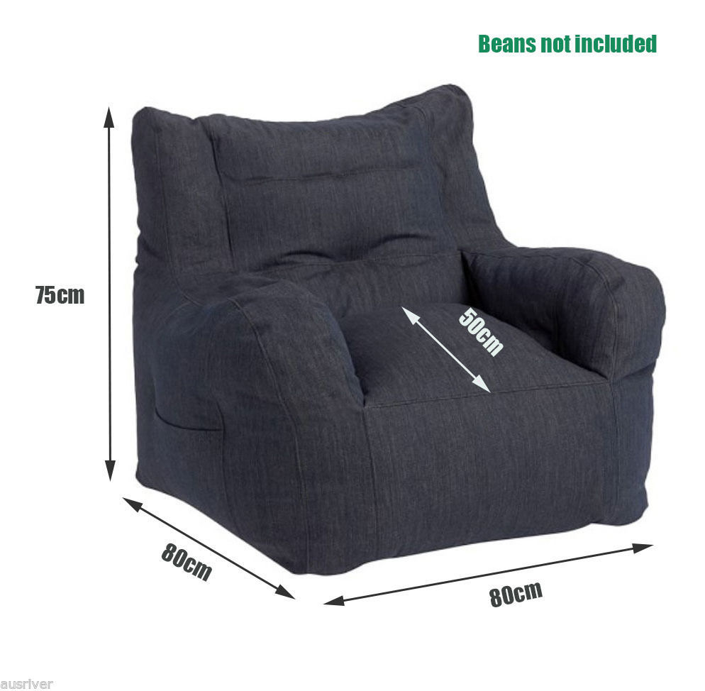 New Luxury Bean Bag Cover Armchair Beanbag Sofa Chair