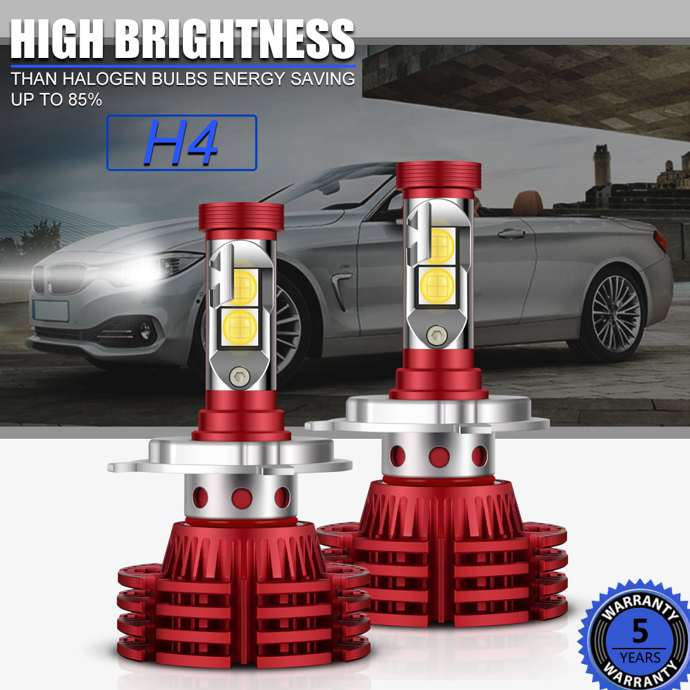 H4 9003 HB2 OSRAM LED Headlight Bulbs Kit 1280W 192000LM High Low ...