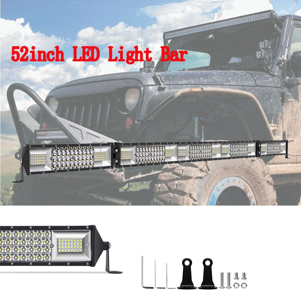 """Straight 52/""""Inch LED Work Light Bar Combo Driving OFFROAD SUV 4WD ATV VS 50//42"""