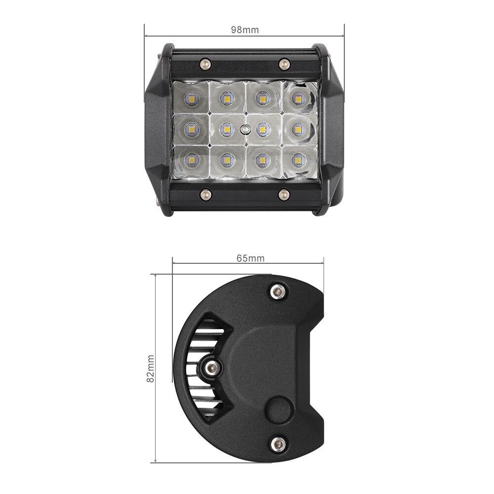 Tri Row 42inch 2592w Led Light Bar Combo 4x 4inch Cree Pods Street Lamp Wiring Kits Free Kit