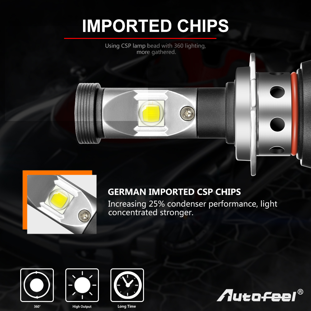 2x 9007 Hb5 1800w 279000lm Cree Led Headlight High Power Car Bulb Xentec Hid Light Wiring Diagram Package Included Bulbs Well In The Box