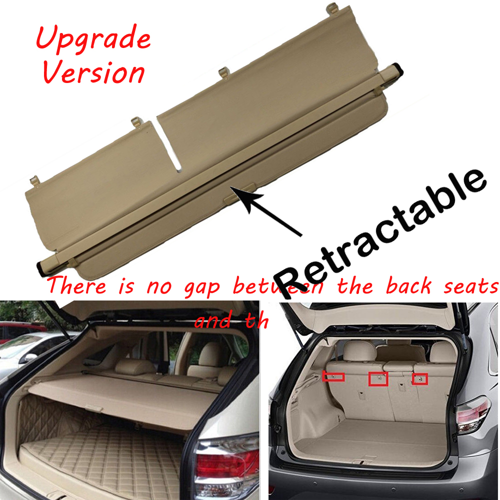 Security Rear Trunk Grey Cargo Cover Shade for 2010-2015 Lexus RX Rx350 Rx450H