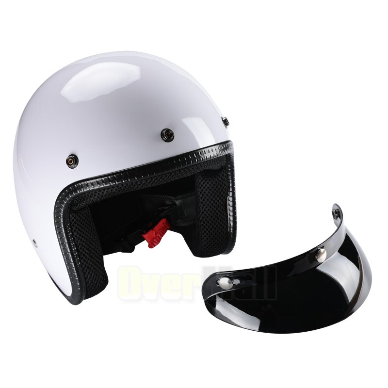 DOT Helmet 3//4 Open Face Motorcycle DOT Fury Tracker Racer Choose Color /& Size