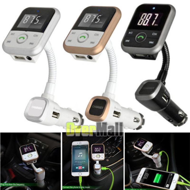 Wireless Bluetooth LCD FM Transmitter Modulator USB Car Kit MP3 Player SD Remote