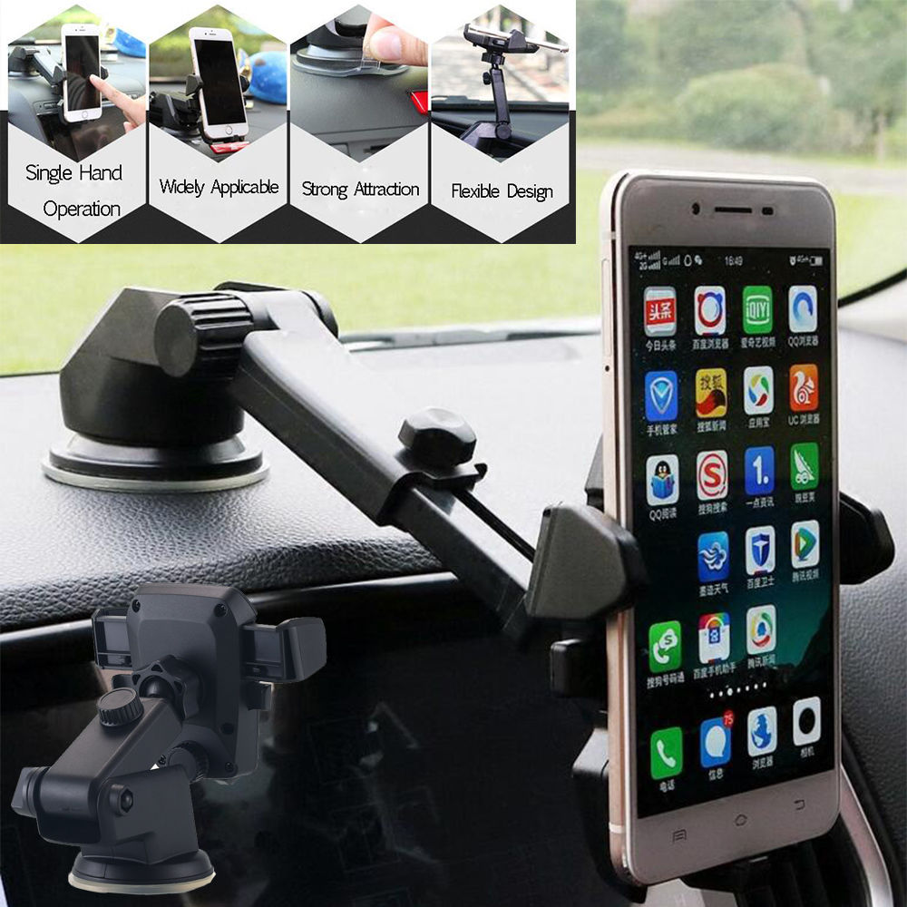 Silicone Suction Cup Universal Windshield with Additional Instrument Panel Base for Smart Phones Car Electronics & Accessories Car Phone Holder Car Electronics Accessories